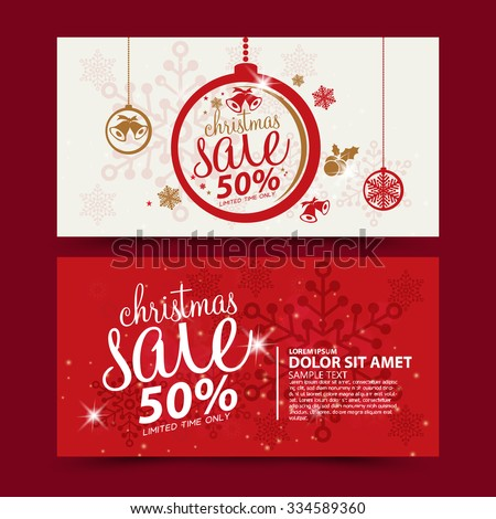 Christmas sale design template