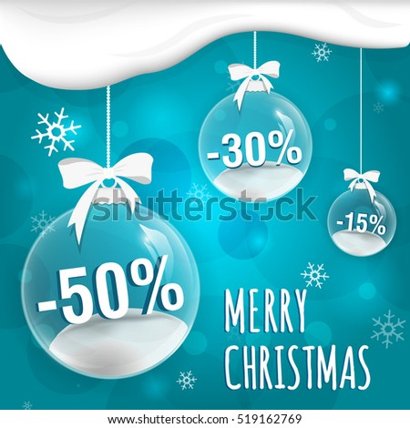 christmas sale on blue