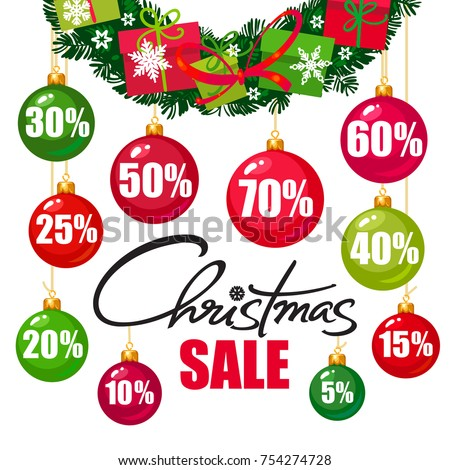 christmas sale poster discount
