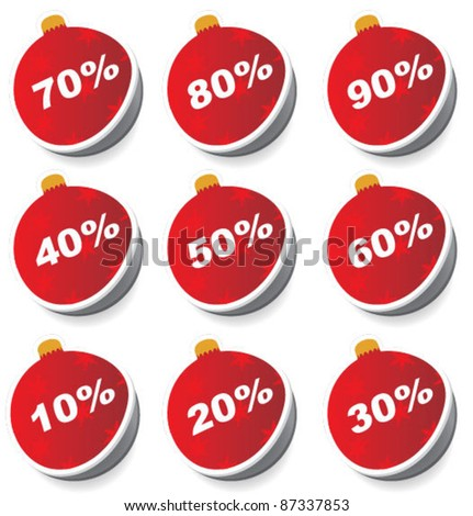 christmas sale: set of balls with discounts