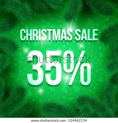 christmas sale sign vector