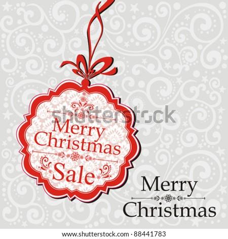 Christmas Sale Tag