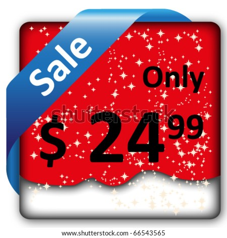 Christmas sale tag/label/ribbon