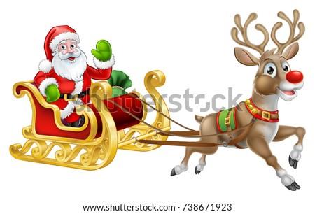 christmas santa claus and his
