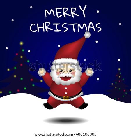 Christmas Santa Claus jumps