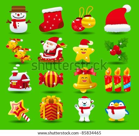 christmas,santa clause,xmas icon set