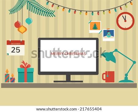 christmas santa's desktop