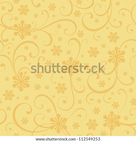 Christmas seamless background with floral theme