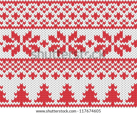 Christmas seamless knitted background. EPS 8 vector illustration.