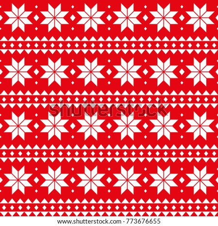 christmas seamless pattern card scandinavian sweater style