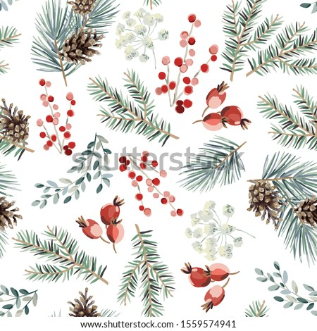 christmas seamless pattern  red
