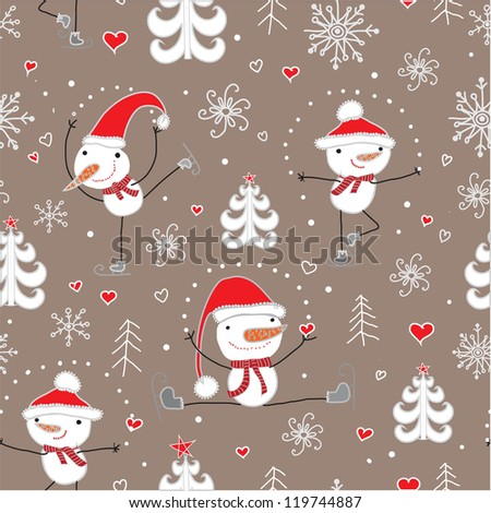 Christmas seamless pattern.Seamless pattern can be used for wallpaper, pattern fills, web page background,surface textures. - stock vector