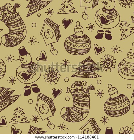 Christmas seamless pattern, wallpaper