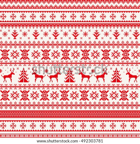 Christmas traditional pixel border - Download Free Vector Art ...