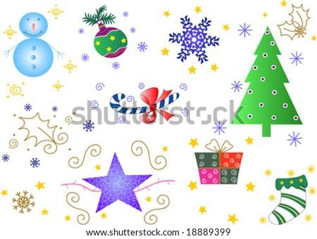 Christmas Season Ornaments Fully Editable Easy Color Change Ez