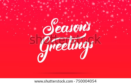 Seasons greetings vector download free vector art stock graphics seasons greetings lettering design winter holiday card with seasons greetings calligraphy and shiny m4hsunfo