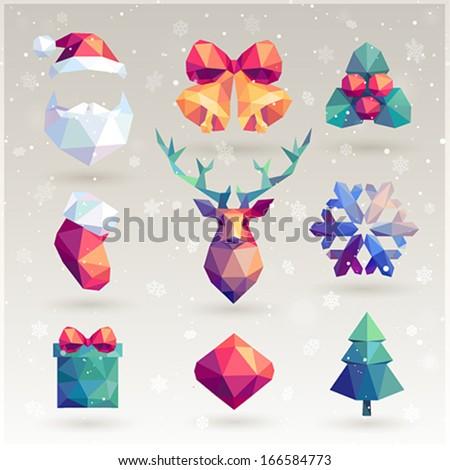 Christmas set - hipster icons.