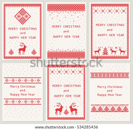 christmas set of 6 vertical