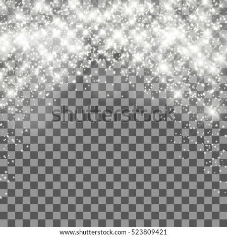 Christmas shining transparent background. Design element for cover, greeting card, brochure or flyer. Vector illustration.
