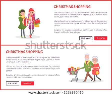 christmas shopping  senior