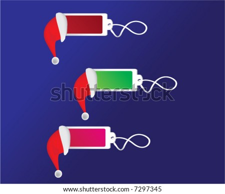 Christmas shopping tags - stock vector
