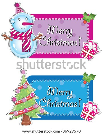 Christmas sign board (Set1)