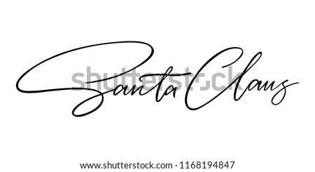 christmas signature to the card