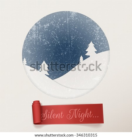 christmas silent night white