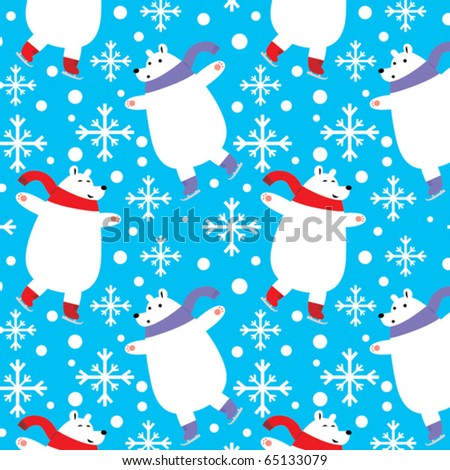 stock-vector-christmas-skating-polar-bears-seamless-vector-pattern-can-be-dragged-to-swatches-palette-in-adobe