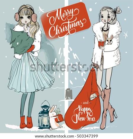 christmas sketchy girls