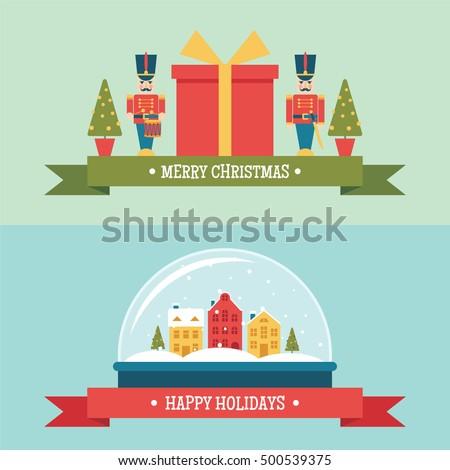 christmas snow globe and gift