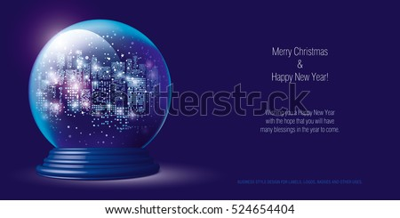 christmas snow globe city