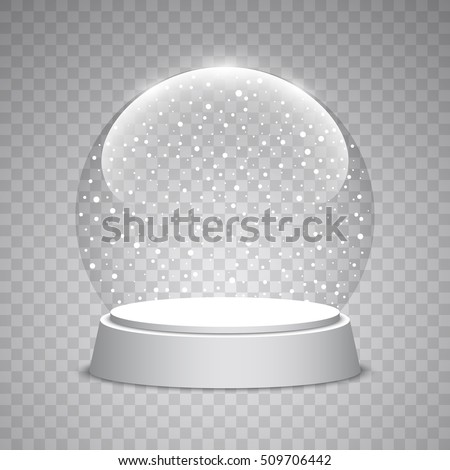 christmas snow globe on
