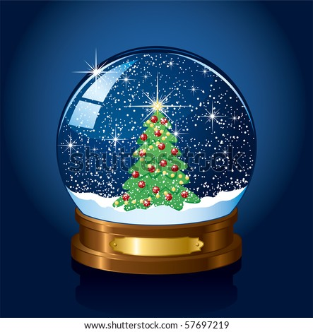 Electric Snow Globe http://www.shutterstock.com/pic-57697219/stock-vector-christmas-snow-globe-with-the-falling-snow-illustration.html