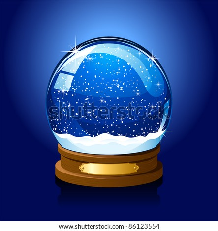 christmas snow globe with the