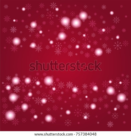christmas snow powder frame or