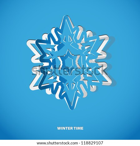 Christmas snowflake applique vector background