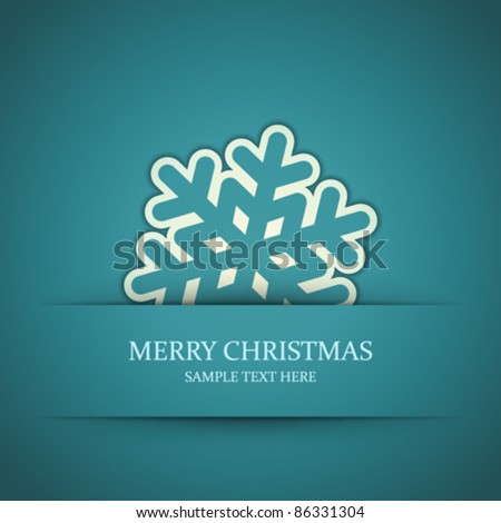 Christmas snowflake applique vector background. Eps 10.