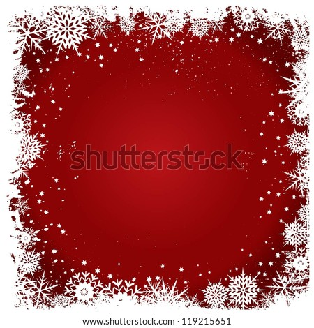 Christmas snowflake background - stock vector