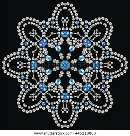 christmas snowflake crystal