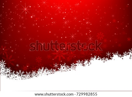 Christmas snowflake with night star light and snow fall abstract bakcground vector illustration eps10 002