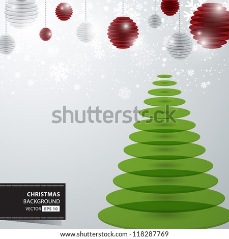 Christmas, Snowflakes and christmas tree Design