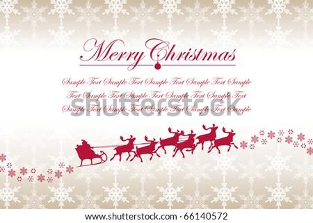 Christmas Snowflakes and Santa Claus