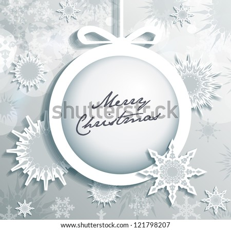 Christmas Snowflakes background eps10 - stock vector