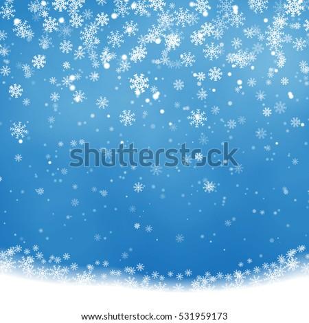 christmas snowflakes shining