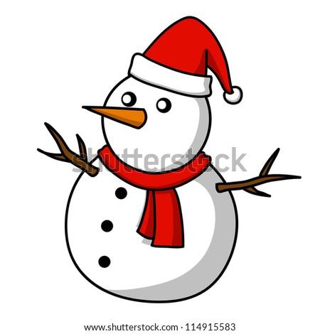 Christmas Snowman cartoon.