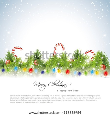 Christmas snowy background with place for text