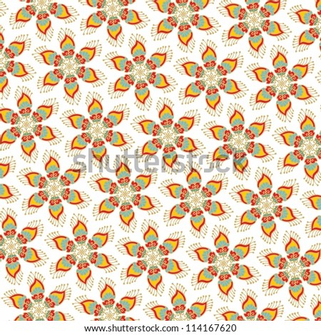 christmas star decorative wrapping paper - stock vector