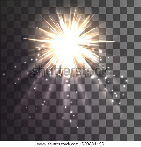 christmas star on a transparent