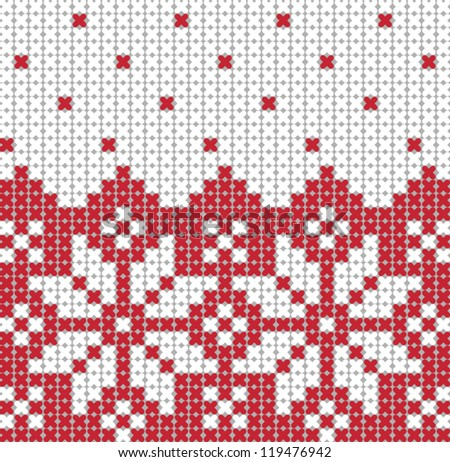 Christmas stars knitted background